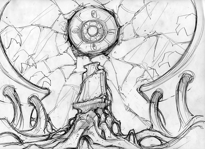 Drawn Game Concept Sketch 2