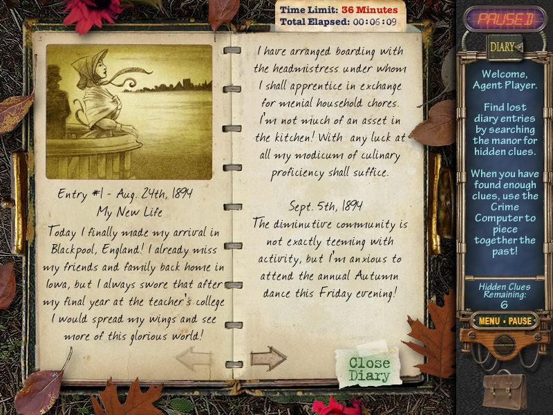 Mystery Case Files: Ravenhearst Diary in English Language