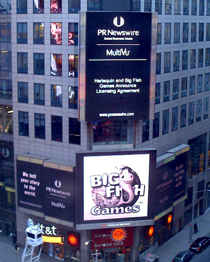 Big Fish Games in Times Square