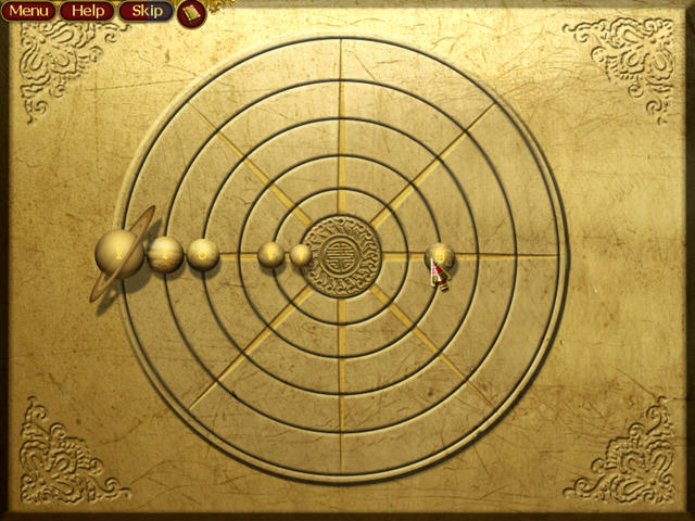 Position the planets following the notes in the journal. Take the ...