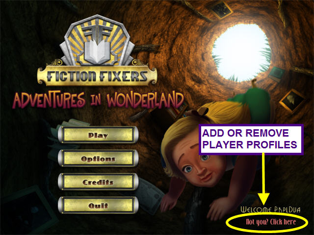 fiction fixers - adventures in wonderland games online