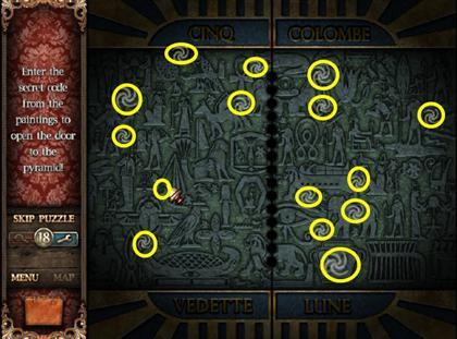 Serpiente de Isis de pantalla de juegos 109A