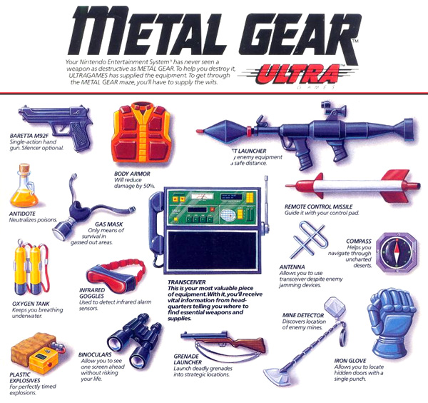 Metal Gear Equipment