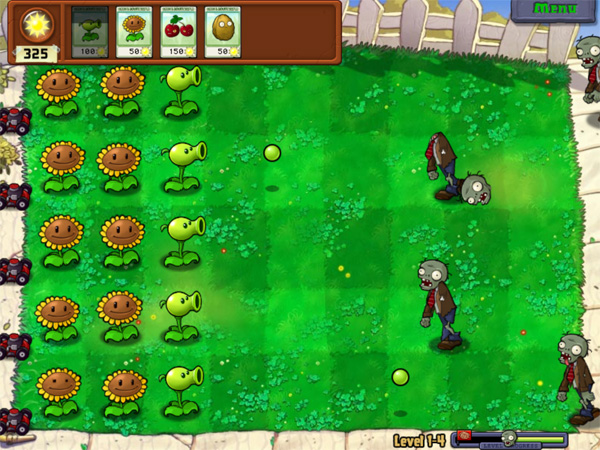 Plants vs Zombies – Two Sunflower Columns