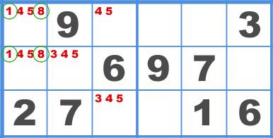 Sudoku Hidden Pair