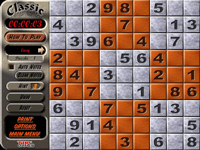 Sudoku Latin Squares Puzzle