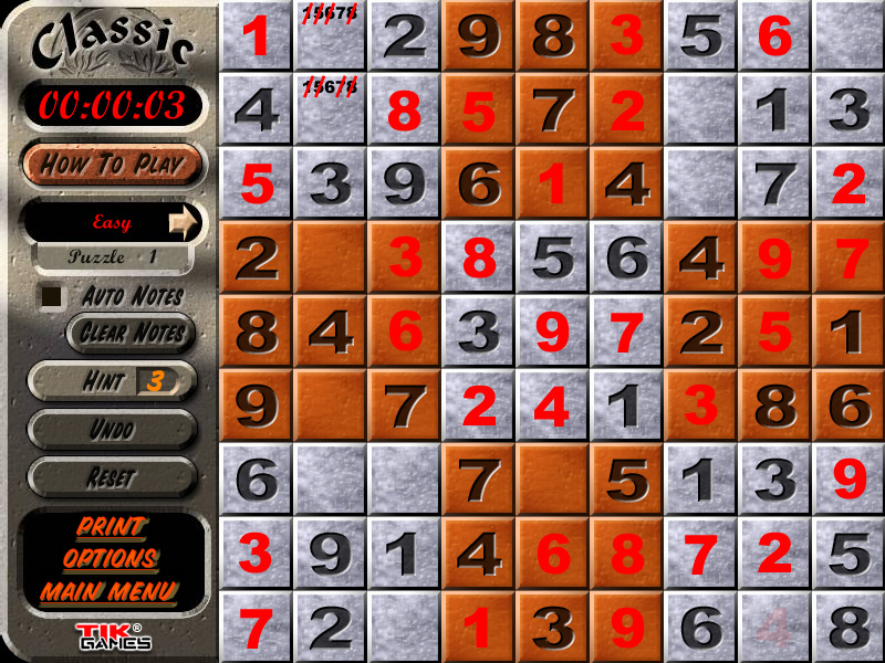 Sudoku Puzzle Solution - Penciling In 5