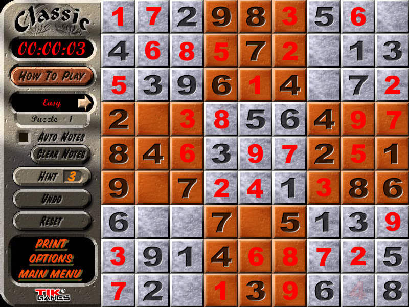 Sudoku Puzzle Solution - Penciling In 6