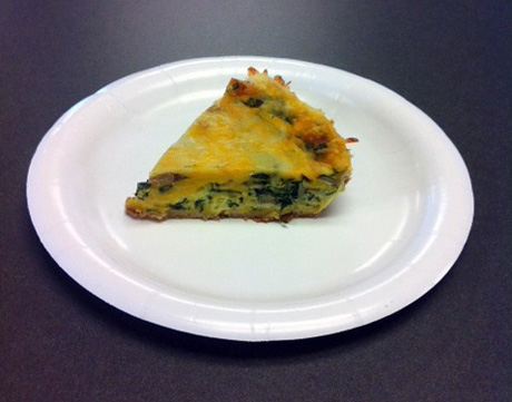 MoDreams Spinach and Portobello Mushroom Quiche